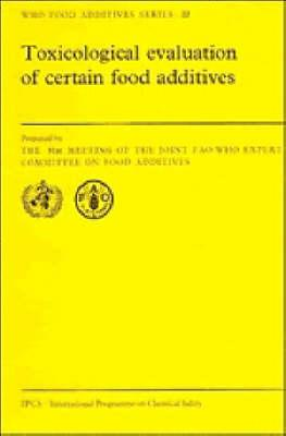 toxicological evaluation of certain veterinary drug residues in food joint faowho expert committee on food additives