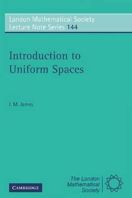 introduction to uniform spaces james i m