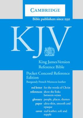 KJV Pocket Concord Reference Bible Burgundy French Morocco Leather R103
