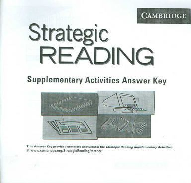 Strategic Reading Supplementary Activities Answer Key