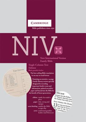 NIV Single Column Text Edition black goatskin NI176FH