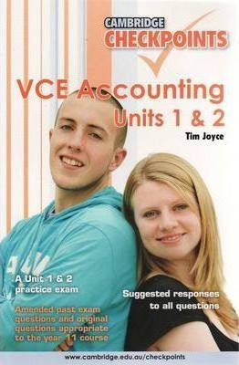 Cambridge Checkpoints VCE Accounting Units 1and 2: Units 1&2