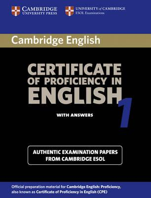 Cambridge Certificate Of Proficiency In English 1 Students Book With Answers