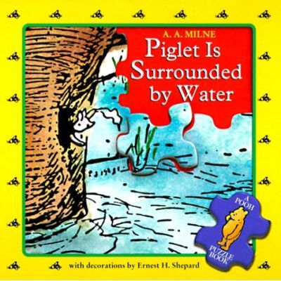 Piglet Is Surrounded by Water, Pooh Puzzle Book