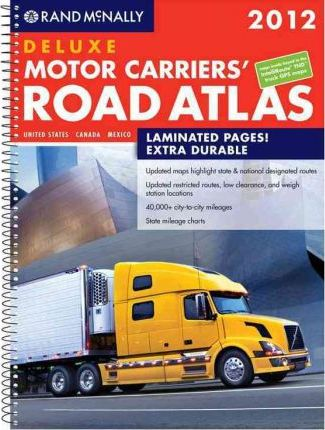 Rand McNally Motor Carries Road Atlas Deluxe