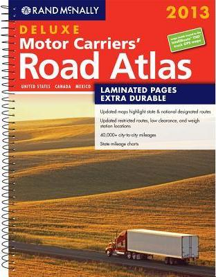 Rand McNally Road Atlas Deluxe Motor Carriers, 2013