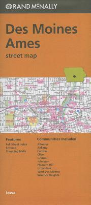 Folded Map Des Moines Ames Streets Ia