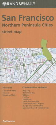 Folded Map San Fran & No Penin Streets, CA