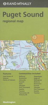 Rand McNally Puget Sound, Washington Regional Map