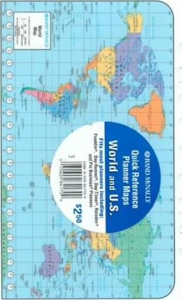 Rand McNally World and U.S. Quick Reference Planner Maps