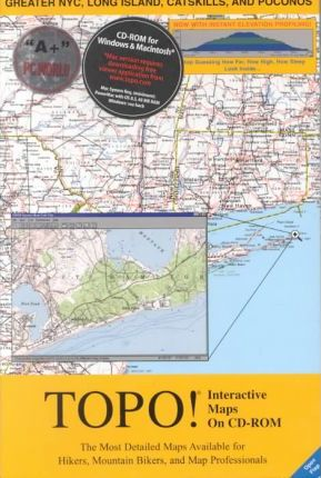 National Geographic Topo Greater Nyc, Long Island, Catskills, and Poconos