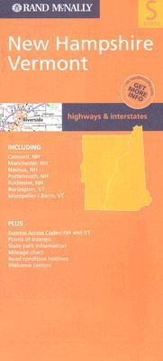New Hampshire and Vermont State Map