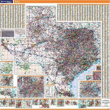Texas State Wall Map Texas State Wall Map Texas State Wall Map