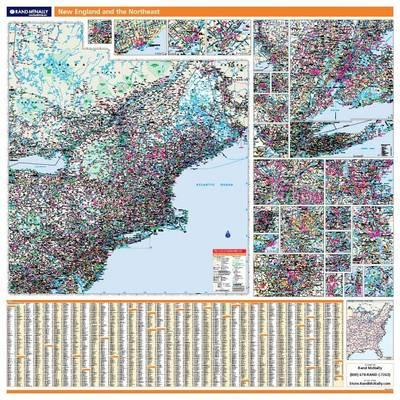 New England/Northeast Wall Map New England/Northeast Wall Map New England/Northeast Wall Map