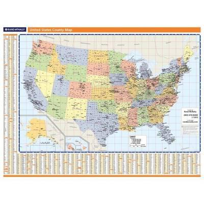 United States Counties Wallmap