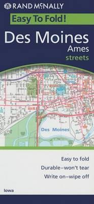 Rand McNally Easy to Fold! Des Moines Ames Streets