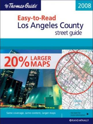 Easy-To-Read Los Angeles County Street Guide