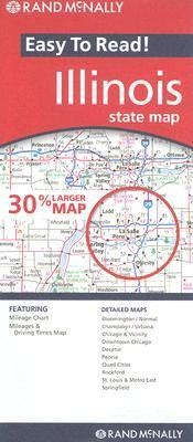 Rand McNally Easy to Read! Illinois State Map