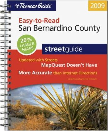 Easy-To-Read San Bernardino County Street Guide
