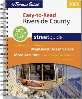 Easy-To-Read Riverside County Street Guide