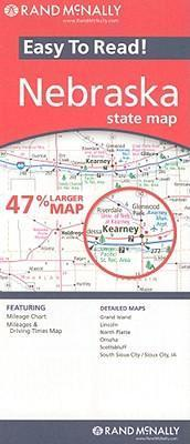 Rand McNally Easy to Read! Nebraska State Map