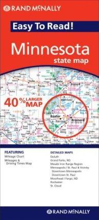 Rand McNally Minnesota Easy to Read! State Map