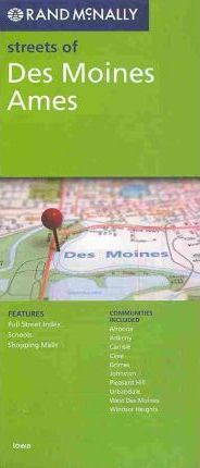 Rand McNally Streets of Des Moines Ames, Iowa