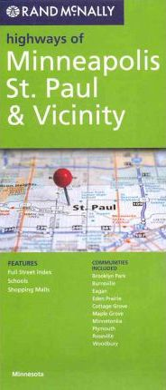 Rand McNally Highways of Minneapolis, St. Paul & Vicinity, Minnesota