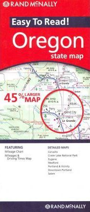Rand McNally Easy to Read! Oregon State Map