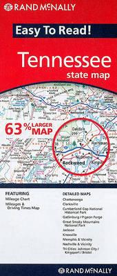 Rand McNally Easy to Read! Tennessee State Map