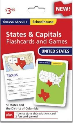 Schoolhouse Us States and Capitals Flashcards an