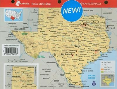 Rand McNally Notebook Texas State Map