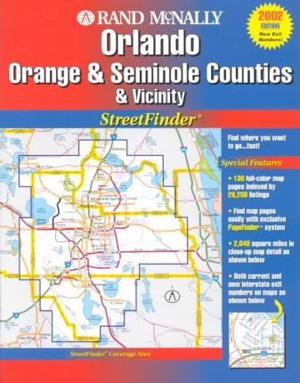 Rand McNally Orlando, Orange and Seminole Counties and Vicinity Streetfinder