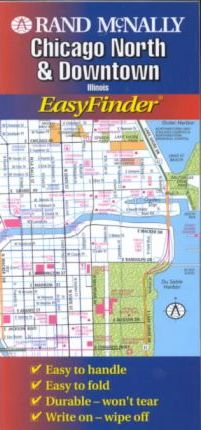 Rand McNally Easyfinder Chicago North & Downtown, Illinois
