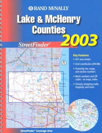 Rand McNally Streetfinder Lake & McHenry Counties Illinois