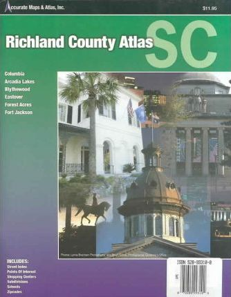 Richland County Atlas Scouth Carolina Columbia, Arcadia Lakes, Blythewood,