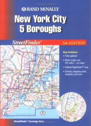 Rand McNally Streetfinder New York City 5 Boroughs