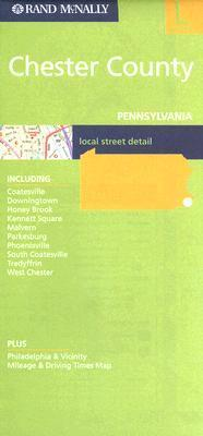 Rand McNally Chester County Pennsylvania Local Street Detail