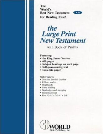 Large Print New Testament with the Book of Psalms-KJV
