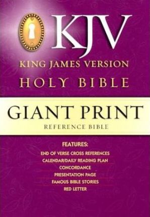 Giant Print Reference, King James Version Bible/Black Gp50