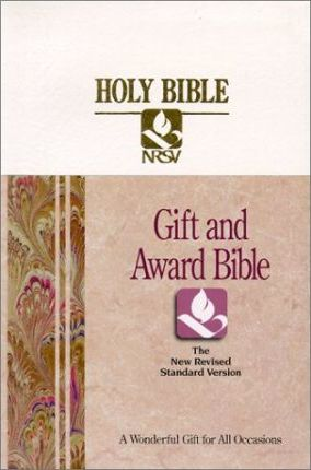 Holy Bible New Revised Standard Version/Gift and Award/Rs41w/White Imitation Leather