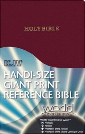 Handi-Size Giant Print Reference Bible-KJV-World Visual Reference System