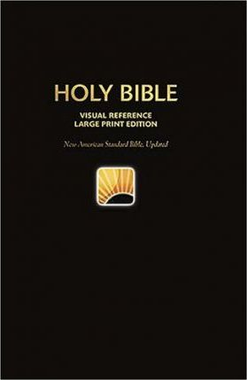 Large Print Bible-NASB-World's Visual Reference System