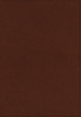KJV, UltraSlim Reference Bible, Imitation Leather, Brown, Indexed, Red Letter Edition