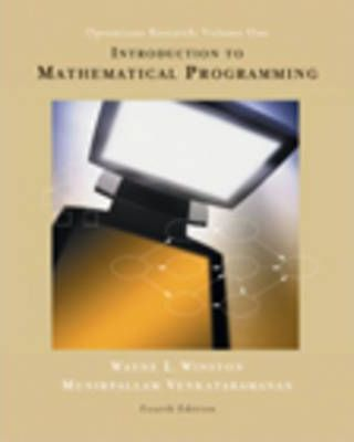 Introduction to Mathematical Programming: Volume 1 : Wayne L
