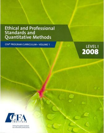 CFA Program Curriculum, Level I 2008