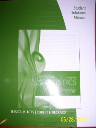 student solutions manual for utts heckard s mind on statistics 4th rh bookdepository com Engineering Solutions Statistics Problems
