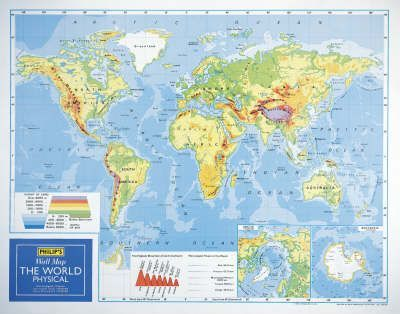 Philip's Wall Maps: World Physical Map