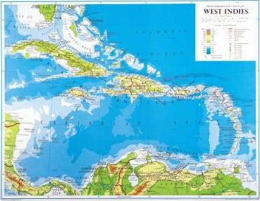Philip's Regional Wall Maps: West Indies