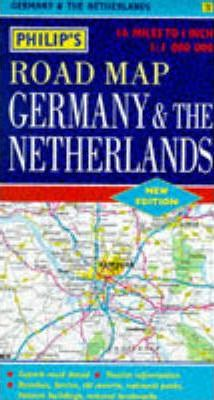Philip's Road Map of Germany and the Netherlands